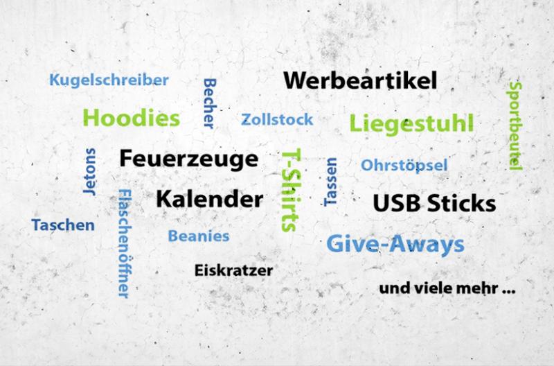 Wunsch-Merchandise Artikel in großer Auswahl auf Anfrage erhältlich