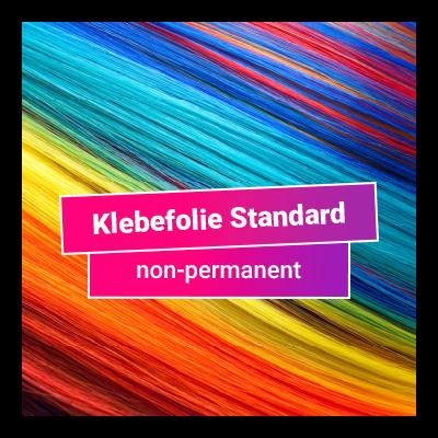 Klebefolie Standard non-permanent - glänzend