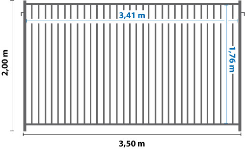 Bauzaun Maße