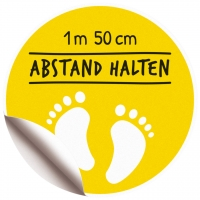 Bodenaufkleber Fußspuren ø 40 cm -