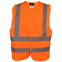High Visibility Vest ISO 20471 - 4 Reflective Stripes -