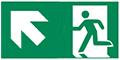 grafische Darstellung Rettungsweg Notausgang links oben