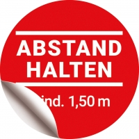 Bodenaufkleber Abstand halten Ø 40 cm -