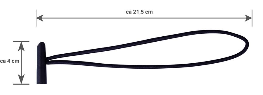 Gummischlaufe Detail mit Maß